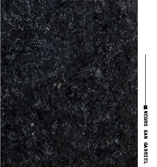 Negro san gabriel distribuidora de marmoles for Piedra granito negro