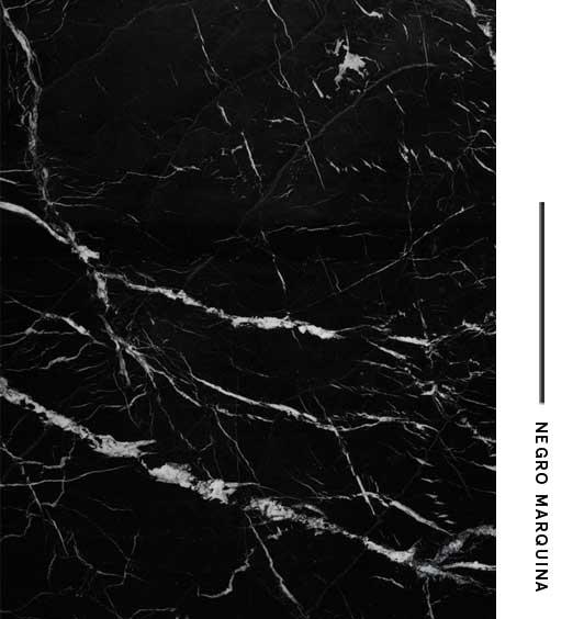 Negro marquina distribuidora de marmoles for Marmol negro marquina